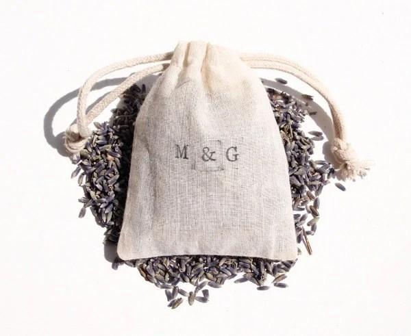 Custom Lavender Toss, Wedding Toss, Ceremony Favor, Custom Stamp, Natural Lavender Throw, Natural Cloth Bag, Wedding - aidebodycare