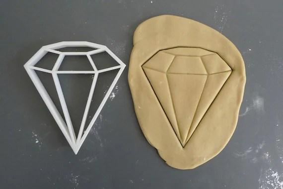 Big diamond cookie cutter, 3D printed