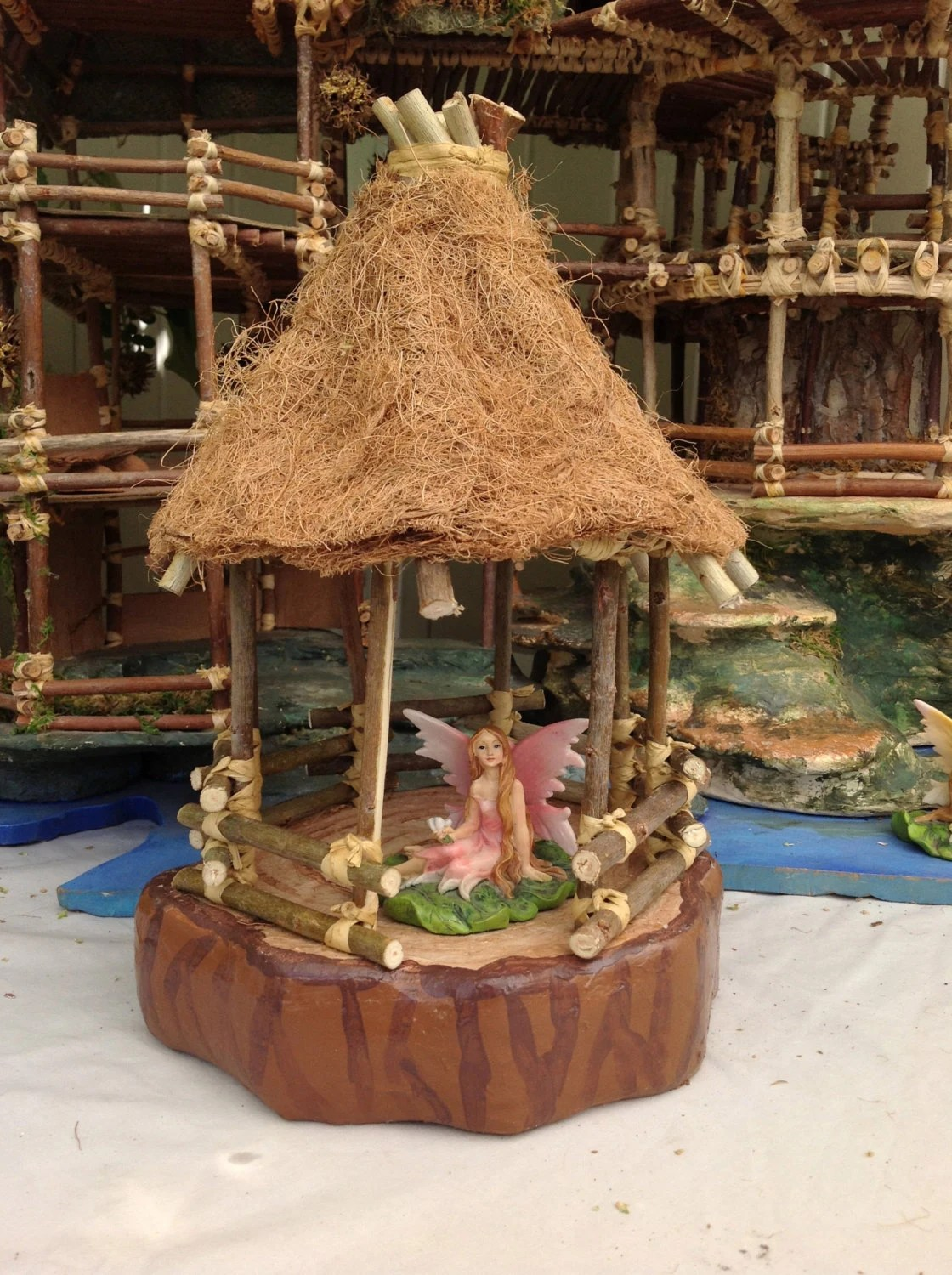 Gazebo Fairy House Kit 8 By 8 By 12 Inches By Fairyhousemagic