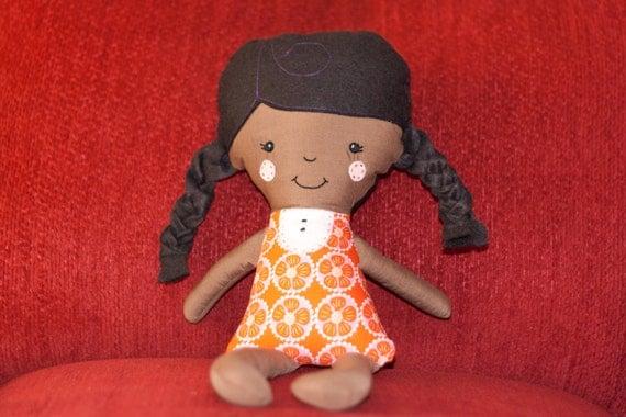 Little Girl Fabric Doll