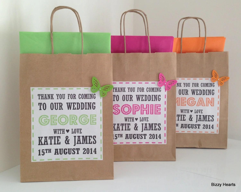 Wedding Gift Bag / Wedding Favour / Personalised
