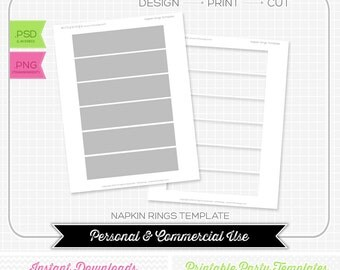 image relating to Printable Napkin Rings Template referred to as Napkin Ring Template. down load and print napkin ring menu