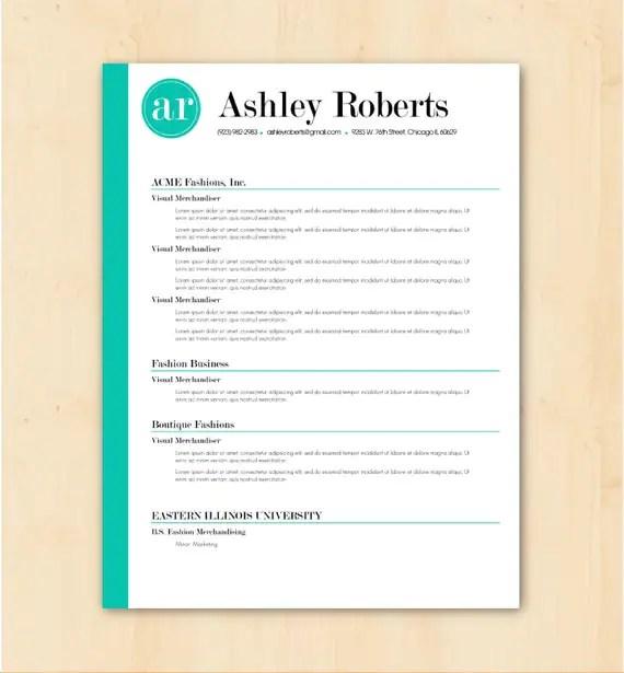 resume template cv template the ashley roberts resume design