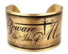 Julius Caesar Quote, Beware the Ides of March Cuff, William Shakespeare Quote Jewelry