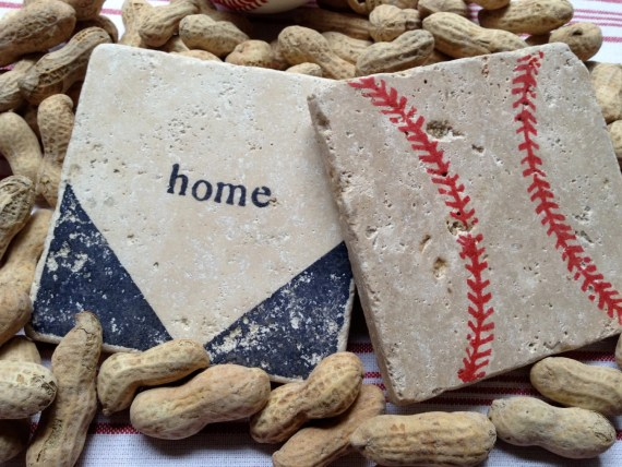 Baseball Decor Interior Design Baseballs Display Old Baseballs Ball Balls Home Plate Coasters Etsy Natural Stone Travertine Baseball Stitches
