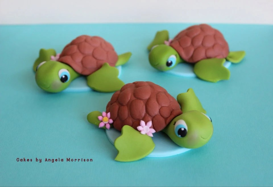 Turtle Cake Topper Etsy