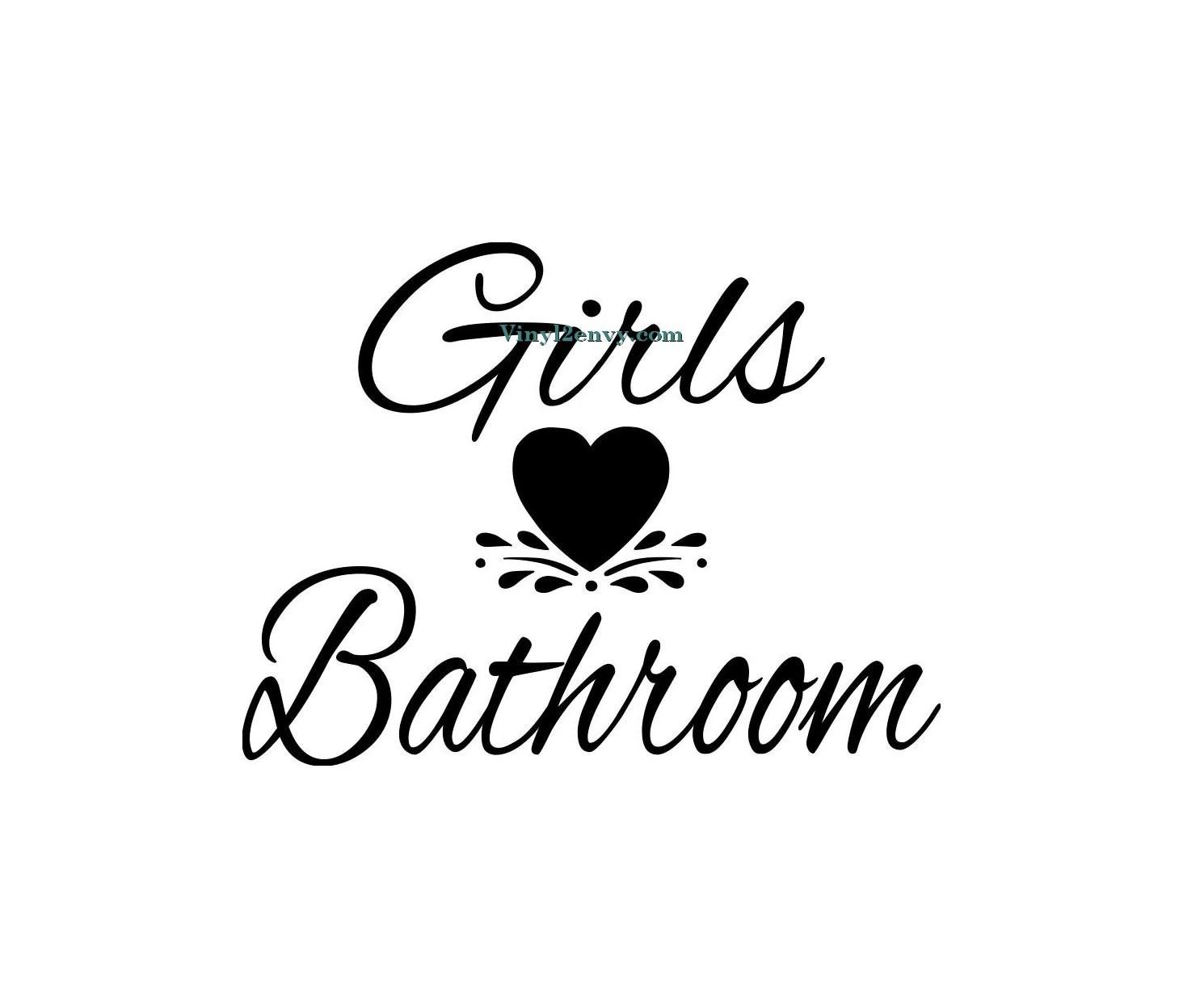Girls Bathroom Wall Decal Vinyl Wall Decals Wall Decor