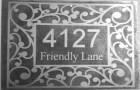"""Custom etched metal house sign 8""""x12"""""""
