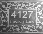 "Custom etched metal house sign 8""x12"""