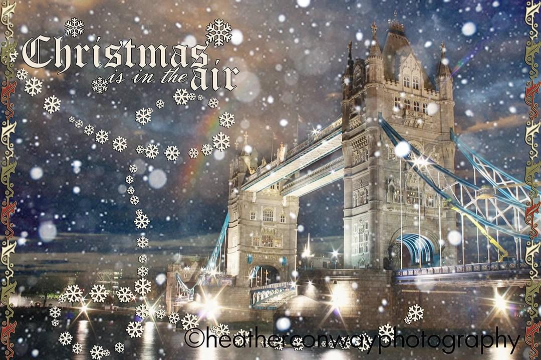 Items Similar To Printable Holiday Card London Snow
