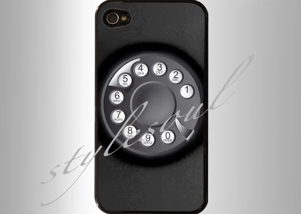 Black Rotary Dial Phone Nostalgia-Old Retro Phone Dial Number iPhone 4 Case, iPhone 4s Case, iPhone 5 case,Samsung GALAXY S III - stylesoul