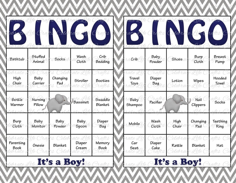 30 Baby Shower Bingo Cards Printable Baby Boy Instant