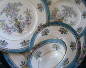 Lenox Blue Tree 5 piece Place Setting Great, Lenox Black  backstamp, Gold trim - ChinaGalore
