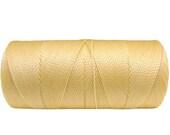 Banana Cream  -  Waxed Cord - macrame cord - 50 feet /16,7 yards/15.24 meters - Waxed Polyester - kindez