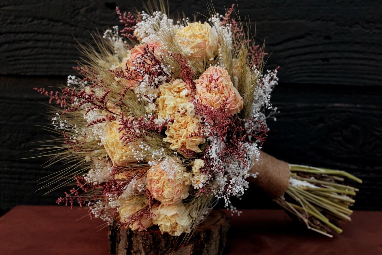 Romantic Rustic Wedding Bouquet Large Bridal Bouquet