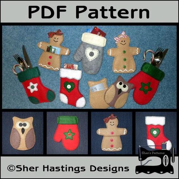 PDF Pattern For Felt Christmas Gift Card By ShersPatternShop