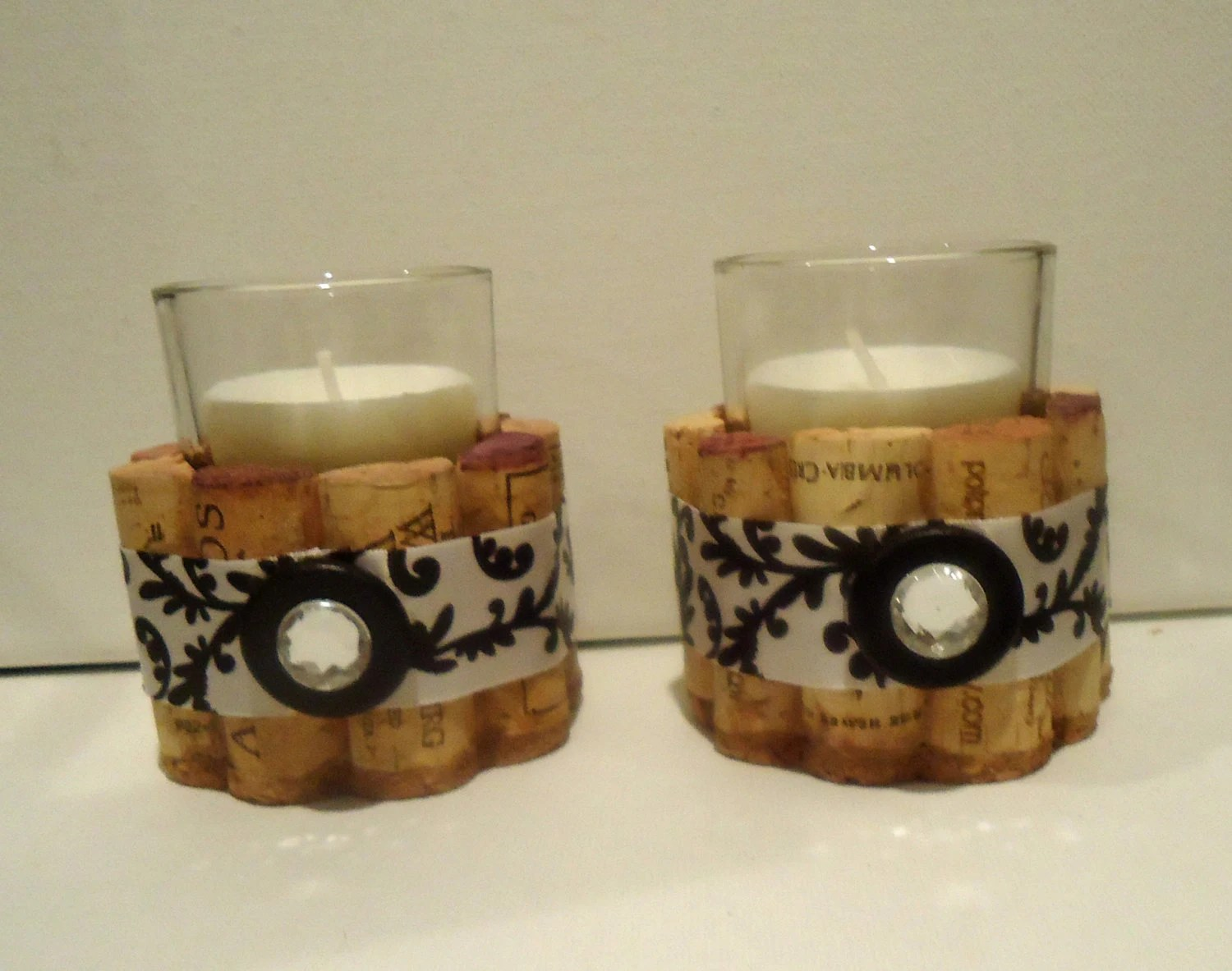 Upcycled Wine Cork Votive Candle Holders By TheGoodWineArtist