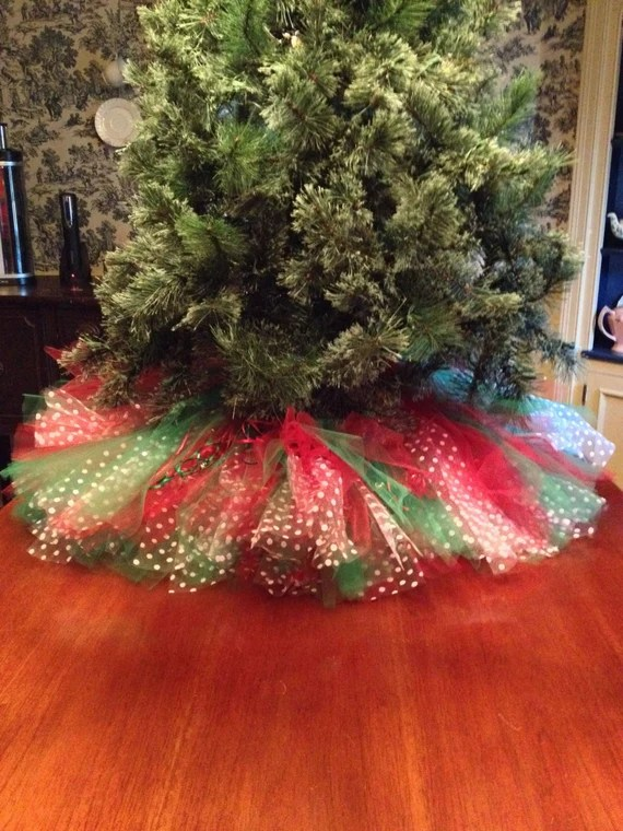 red christmas tree skirt tulle - Christmas Tree Skirts