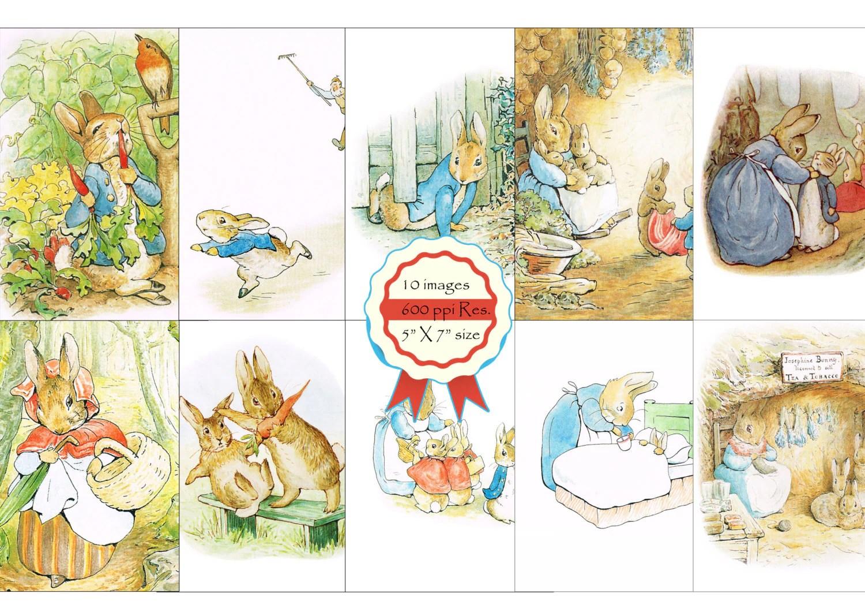 Easter Cards Peter Rabbit Beatrix Potter Bunny