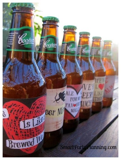 Valentines Day Printable Beer Labels Smart By