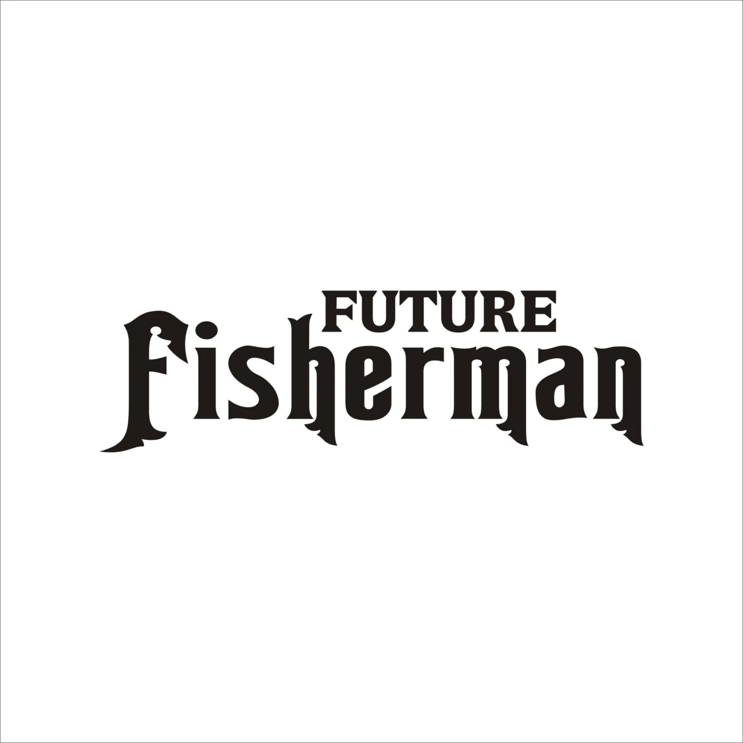 Future Fisherman Decal Sticker