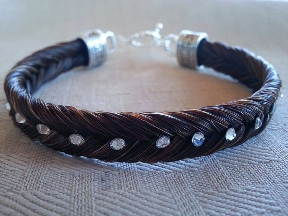 Custom Fishtail Horse Hair Bracelet With By TCEMCustomDesigns