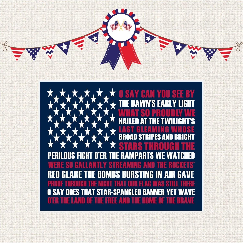 Star Spangled Banner Patriotic Printable By