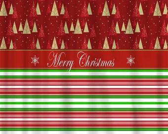 Custom IKAT Chevron Shower Curtain Any Color Shown By Redbeauty