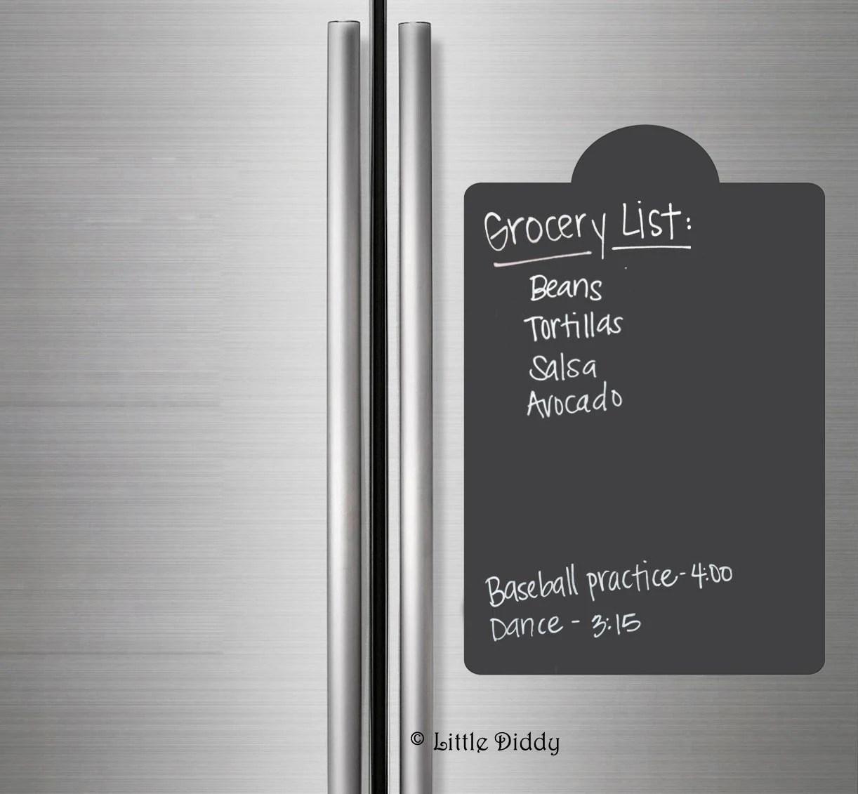 Items Similar To SALE Large Chalkboard Fridge Decal Menu