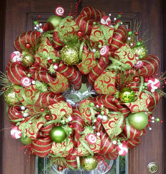 30 Deluxe Deco Mesh WHIMSICAL CHRISTMAS WREATH