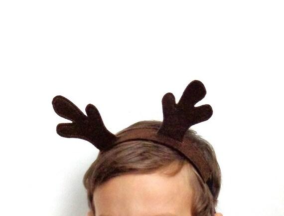 serre tete renne déguisement  headband caribou kawaii fantaisie feutrine marron forêt animal noel
