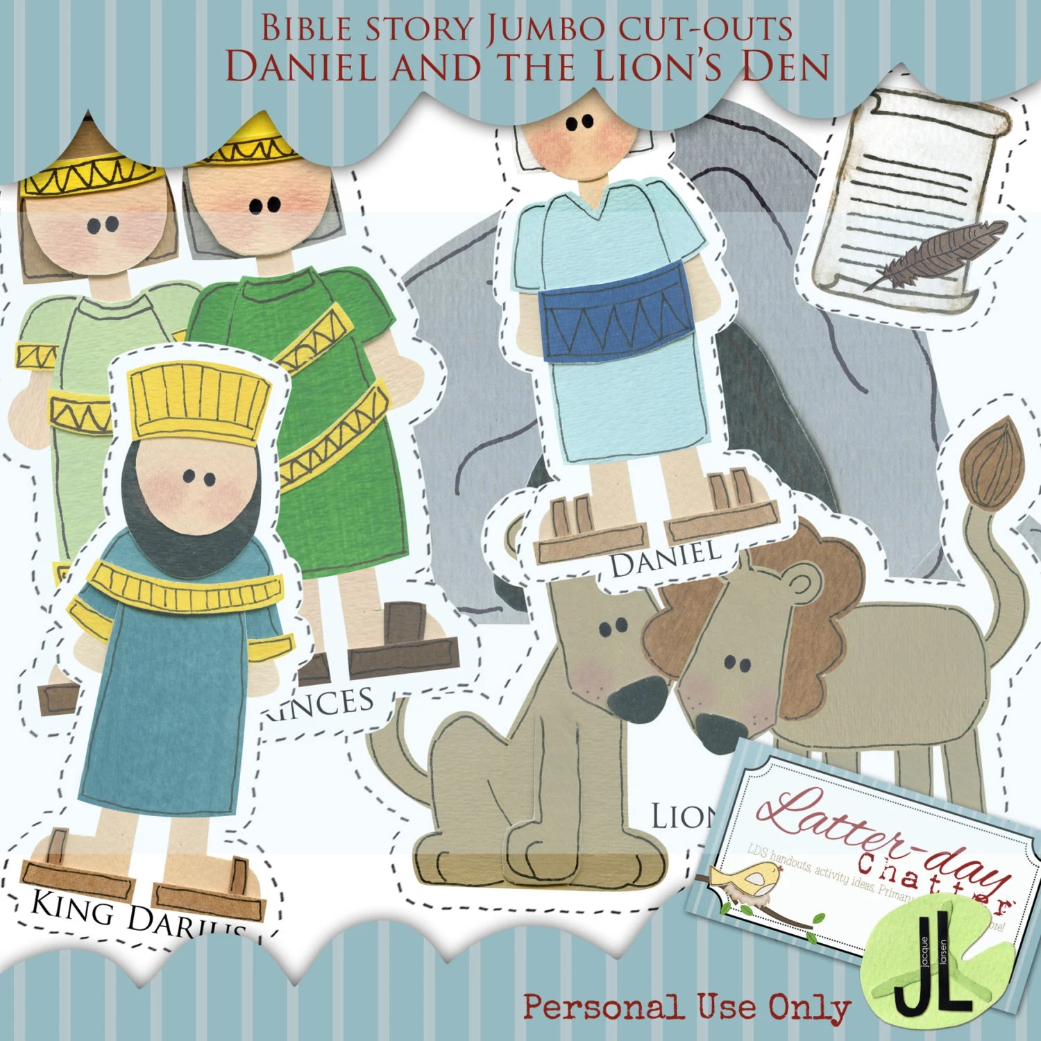 Daniel And The Lion S Den Jumbo Cut Outs By Latterdaychatter