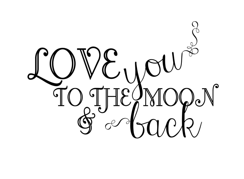 Instant Download Newborn Baby Word Art Overlay Love You
