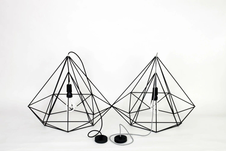 Himmeli Light Diamond Pendant Cage Geometric Black By