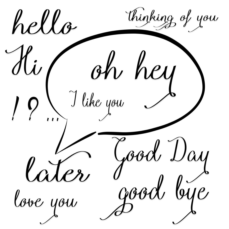 Words Clip Art Speech Clipart Quote Digital Illustration