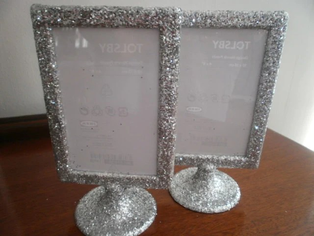 Items Similar To Table Number Glitter Frames Double Sided