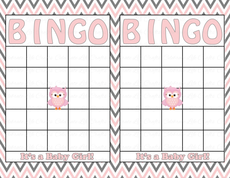 Blank Baby Shower Bingo Cards Printable By Celebratelifecrafts