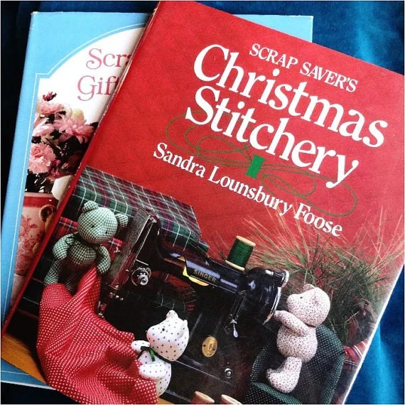 SALE 2 Vintage Christmas Craft Books By