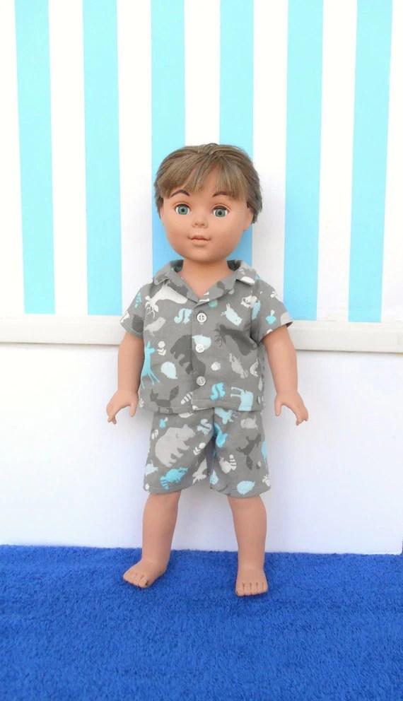 18 Inch Boy Doll Clothes Boy Doll Pajamas Boy Doll Shorts