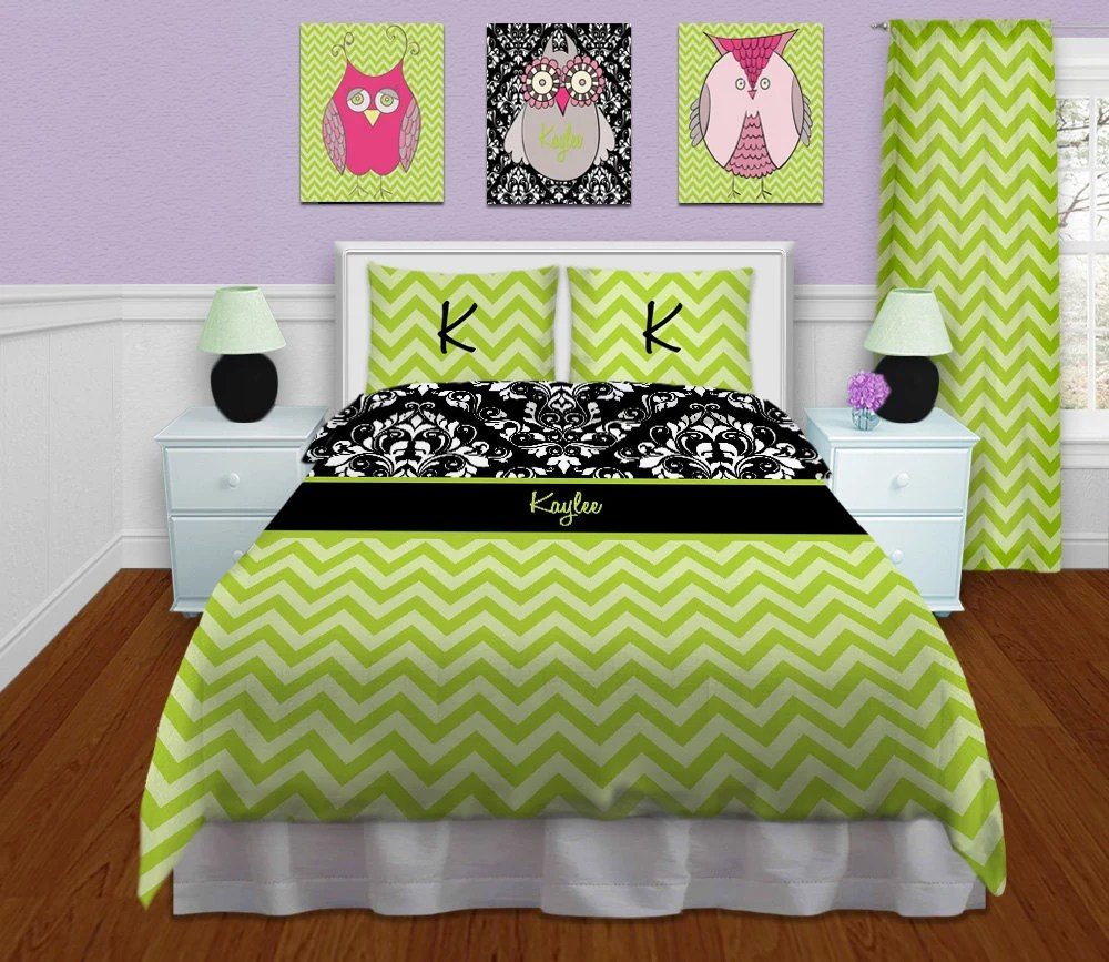 Green Bedding Sets Bedding Chevron Bedding By