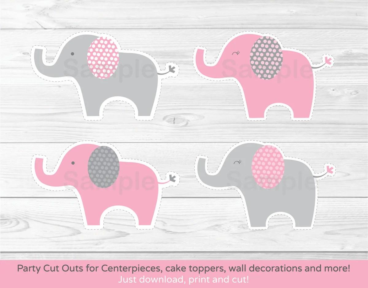 Pink Elephant Cut Outs Elephant Centerpiece Wall Decor