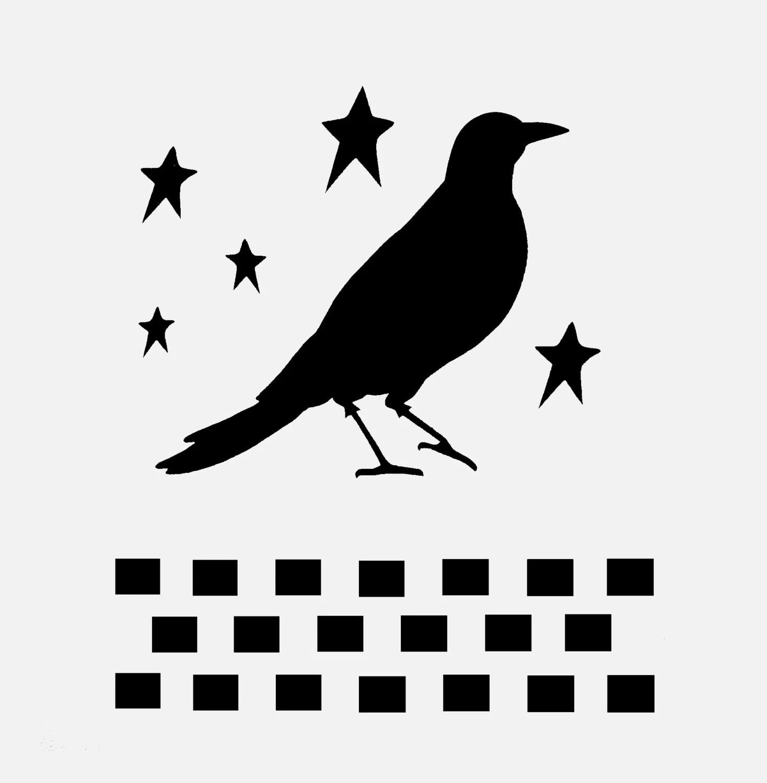 Crow Primitive Stencil Stencils Star Stars Bird By Sunflower33