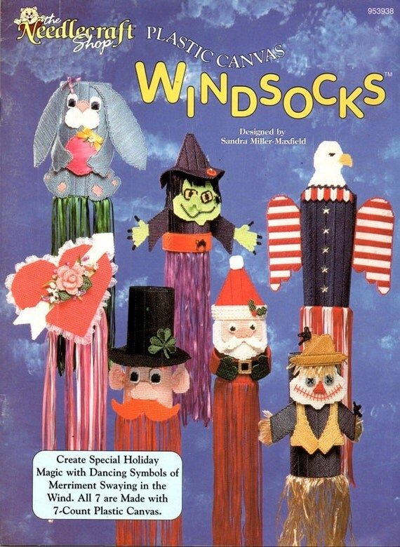 Windsocks Witch Valentine Heart Santa Claus Patriotic
