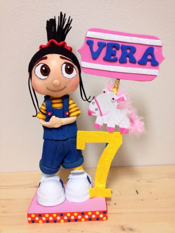 Agnes From Despicable Me Centerpiece Cake Topper Birthday