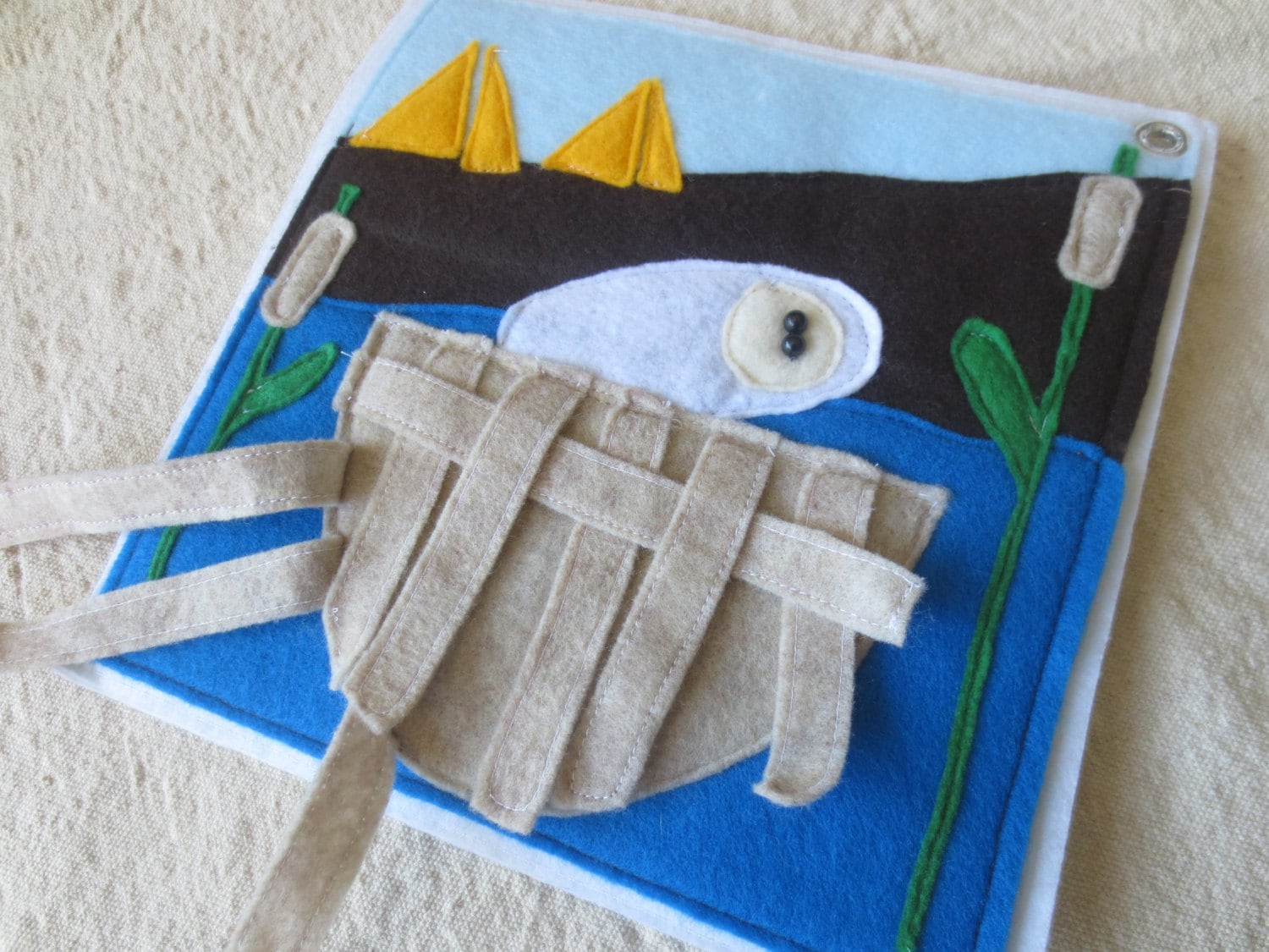 Pattern Baby Moses Bible Story Quiet Book Page