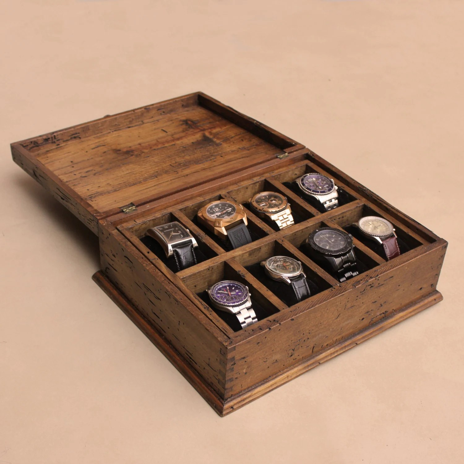 Mens Watch Box Watch Box Watch Case Wood Watch Box