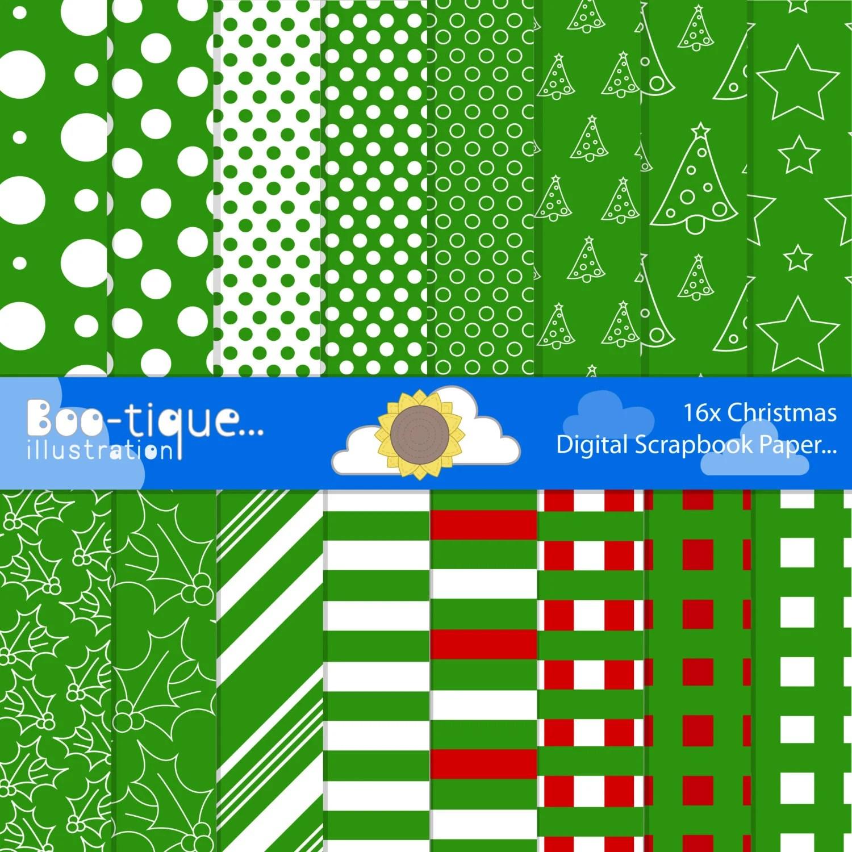 green digital paper christmas digital paper xmas