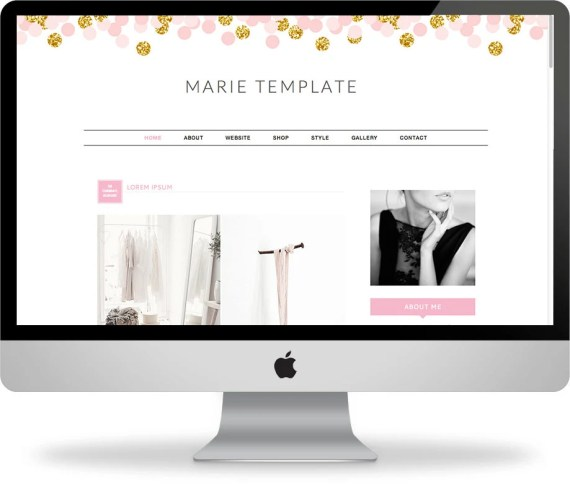 ON SALE: Premade Blogger Template - Instant Download - Marie - Blogger Template - Blogger Theme - Blog Design - Blogger Blog Template
