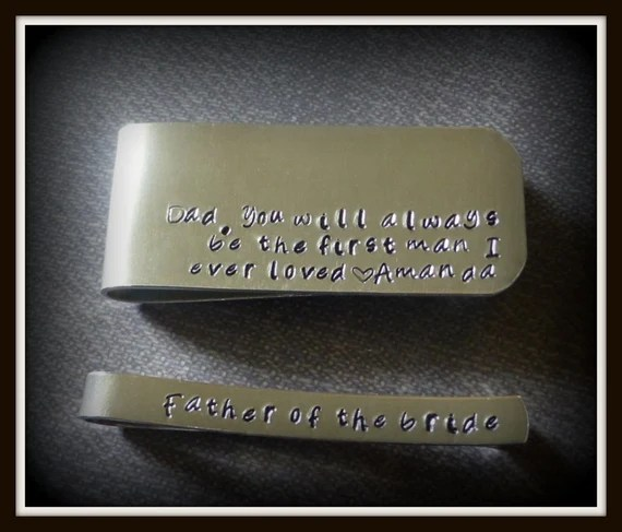 Download first man I ever loved money clip father of the bride tie clip