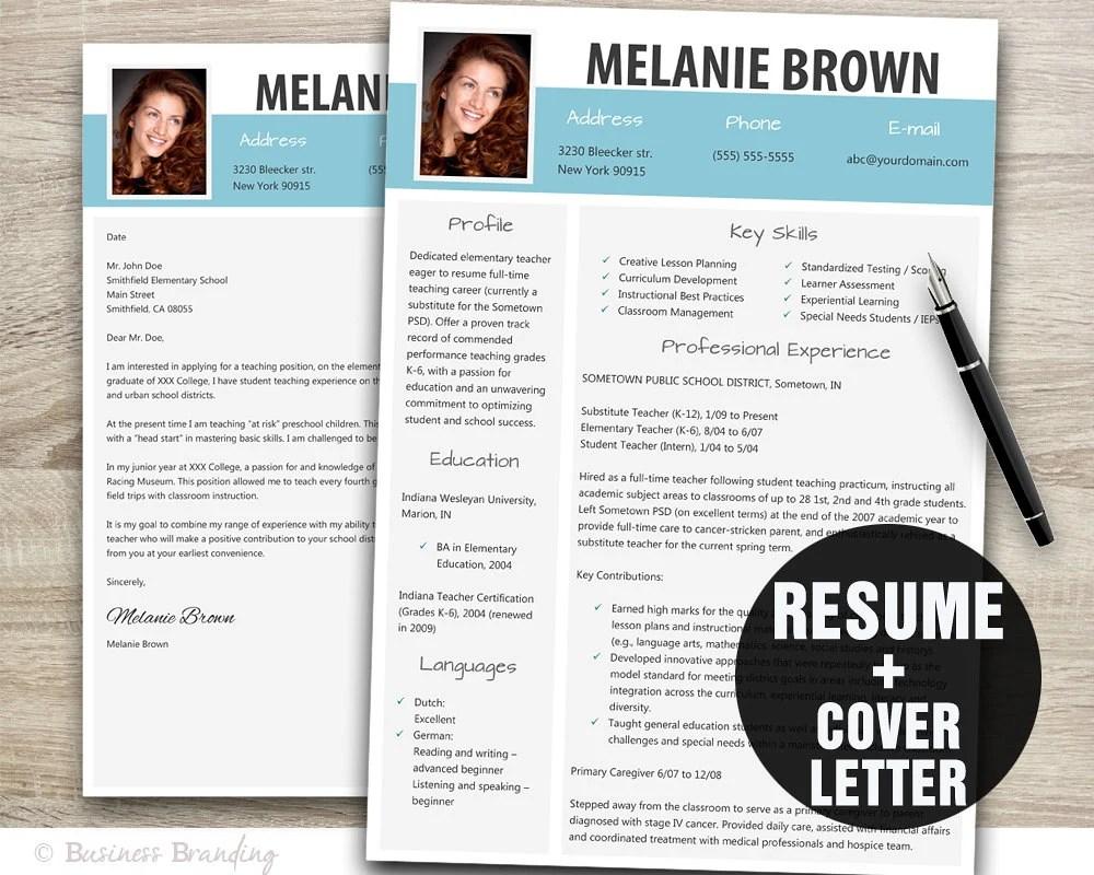 modern graphic design resume template modern resume template word